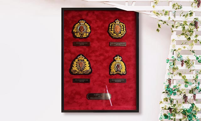 Your preferred supplier of Bullion Embroidered Crests, Machine Embroidered Uniform Crests, Dress Uniform Regalia, Metal Uniform Badges, Challenge Coins and Lapel pins to Agencies across Canada, as well as custom embroidery creations.