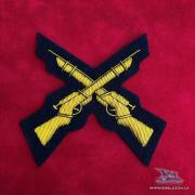 EE-075 - Crossed Rifles - Gold on Blue
